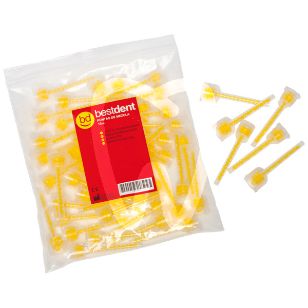 Product - YELLOW MIXING TIPS 1:1 - BESTDENT (50 UNITS)