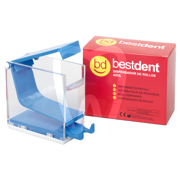 Product - COTTON ROLL DISPENSER BLUE BESTDENT