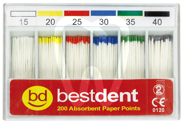 Product - PAPER POINTS SIZES 15-80 BESTDENT