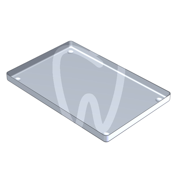 Product - ANODIZED ALUMINIUM TRAY GREY 28X18 CM