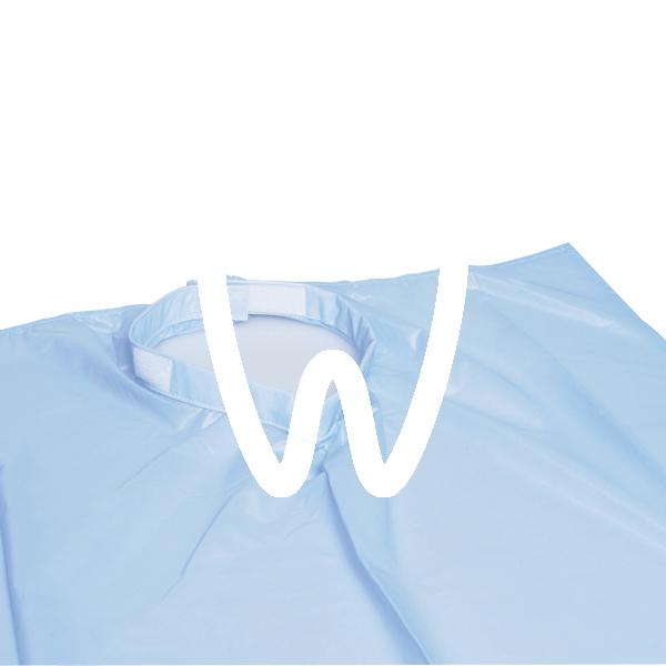 Product - WASHABLE PATIENT BIB, 70 X 58CM, BLUE