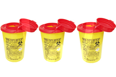 Product - USED NEEDLE CONTAINER 0,6l. (10u.)