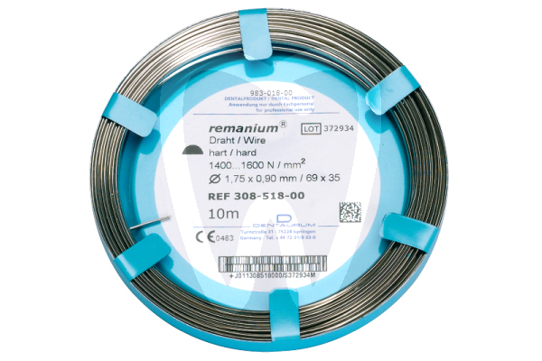 Product - REMANIUM® WIRE ROLL, HALF ROUND, Ø 1.75 x 0.90MM