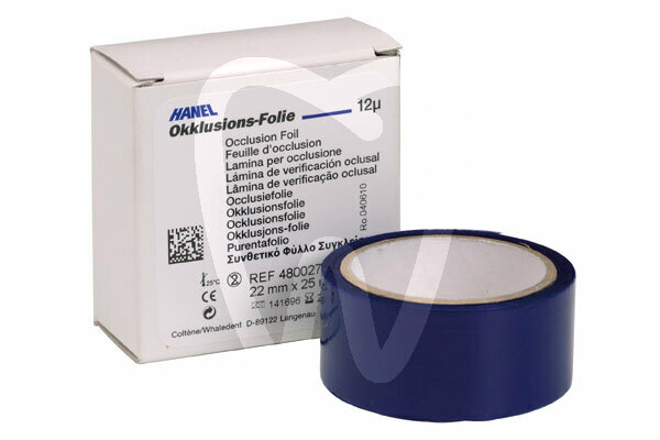 Product - OCCLUSION FOIL, SINGLE-SIDED, BLUE, 22MM