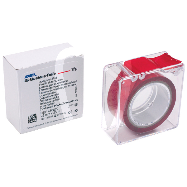 Product - OCCLUSION FOIL, SINGLE-SIDED, RED, 22MM