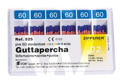 Product - ISO GUTTA-PERCHA POINTS SIZES 15-80 ZIPPERER-VDW