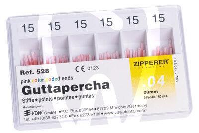 Product - GUTTA-PERCHA .04 SIZES 15-40 ZIPPERER-VDW