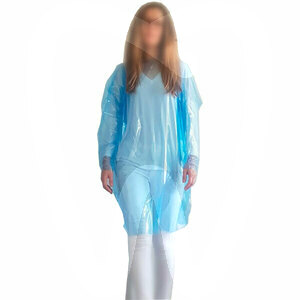 Product - PPE -  DISPOSABLE WATERPROOF PROTECTIVE GOWNS (BLUE)