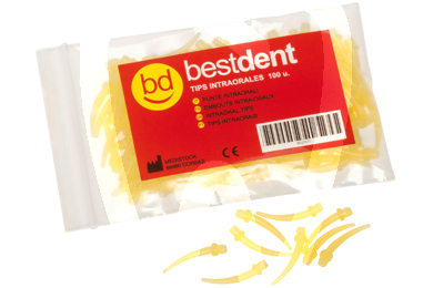 Product - YELLOW INTRAORAL TIPS - BESTDENT (100 UNITS)
