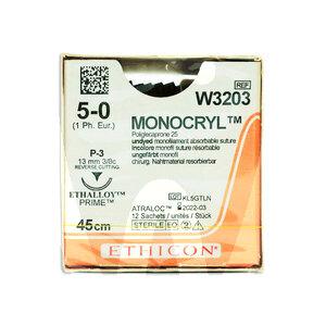 Product - MONOCRYL SUTURE W3203 5/0 P-3 3/8C - 13MM, 45CM.