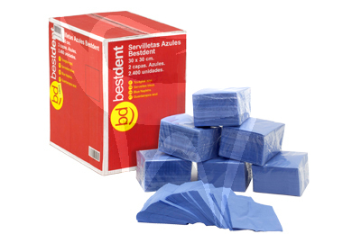 Product - BLUE NAPKINS 2-PLY - 30X30 CM