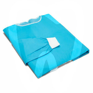 Product - PPE - BLUE WATERPROOF PROTECTIVE GOWNS WITH CUFF