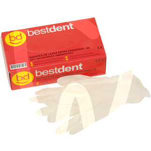 Product - PPE - POWDERED LATEX GLOVES