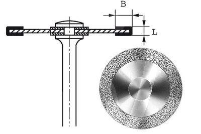 Product - HYPERFLEX DIAMANTSCHEIBE 911HEF Ø 18 MM Stärke 0,10 MM Belegung 3 MM