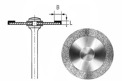 Product - HYPERFLEX DIAMANTSCHEIBE 911HV Ø 18 MM Stärke 0,10 MM Belegung 3 MM