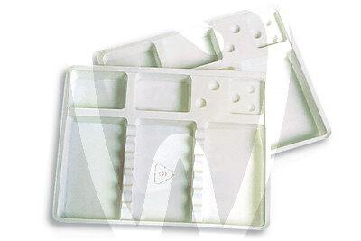 Product - PLATEAUX JETABLES A COMPARTIMENTS MINI 18x14 cm BLANC