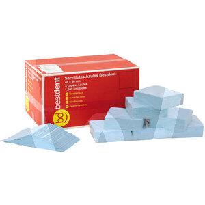 Product - SERVIETTE 40x40 3 PLIS BLEU