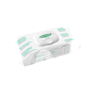 Product - ASEPTONET LINGETTES DESINFECTANTES SACHET REFERMABLE  EN 14476