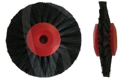 Product - SPAZZOLA 60 mm CONVERGENTE CENTRO PLASTICA ROSSO